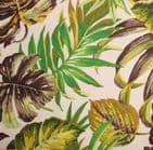 Oil Cloth Table Cloth Cotton Fabric -  Girones Botanic Green